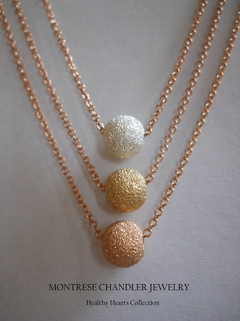 Silver Gold Rose Gold Necklace Trio sold individually