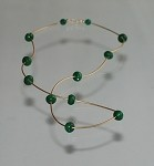 Sculpted 14k Gold-filled and Strand of Jade Necklace