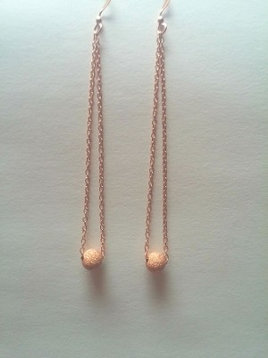 New Product - Rose Gold Chain Earrings