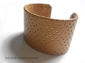 Perforated Fine Leather Cuff