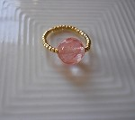 Healthy Hearts 14K Gold-Filled and Quartz Pinky Ring